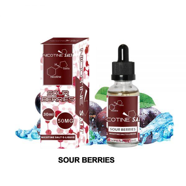 sour berries with nic salt vape juice
